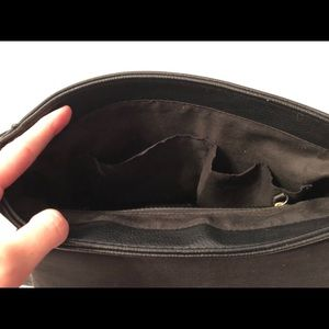 Bags - Black, larger flop-top crossbody